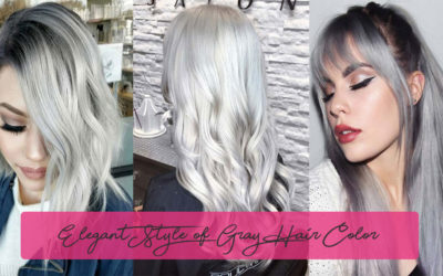 Elegant Style of Gray Hair Color with Schwarzkopf Silver White Shades